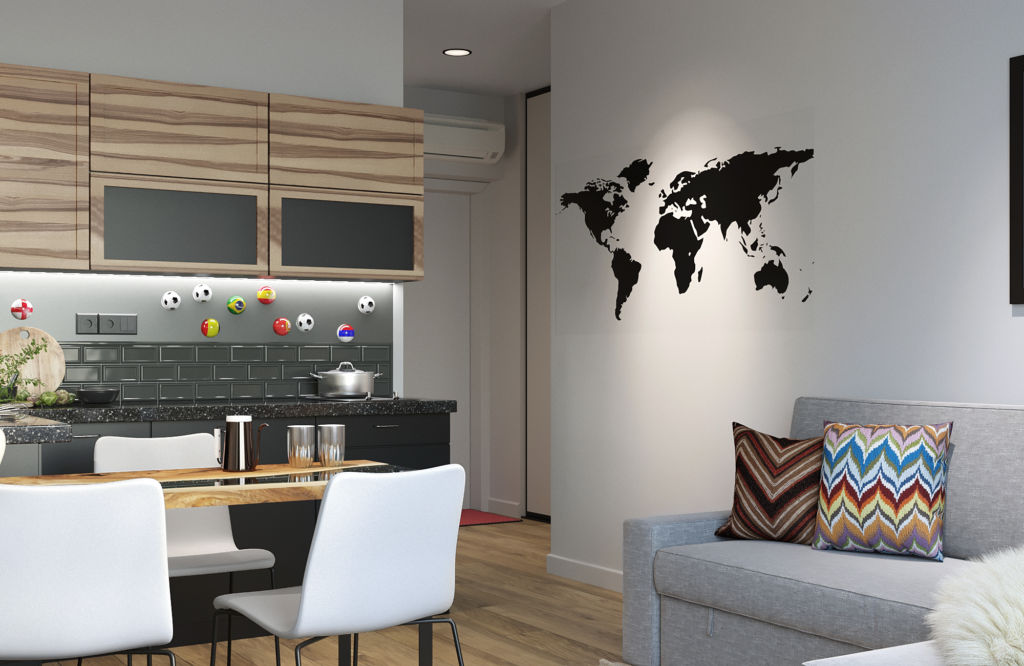 Дизайн-проект 4х комнатной квартиры. Порядок работы.