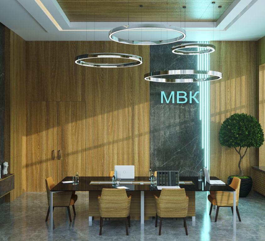 Интерьер переговорной комнаты. Дизайн офиса.