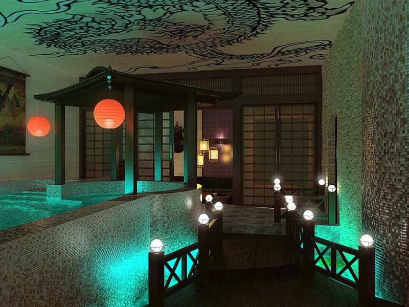 Интерьер spa в Японском стиле