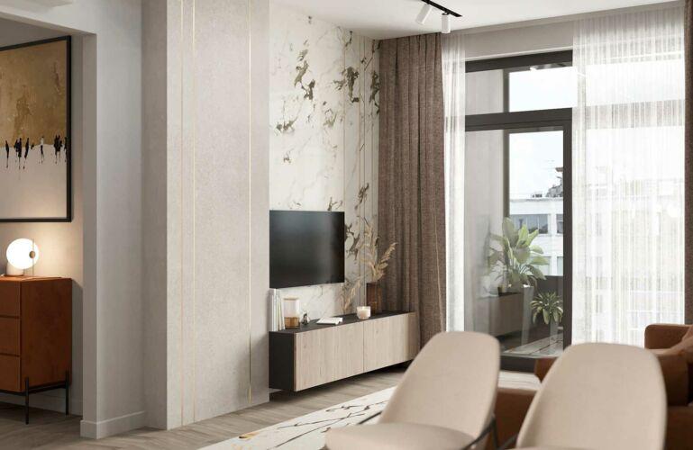 Дизайн гостиной ЖК СИМВОЛ