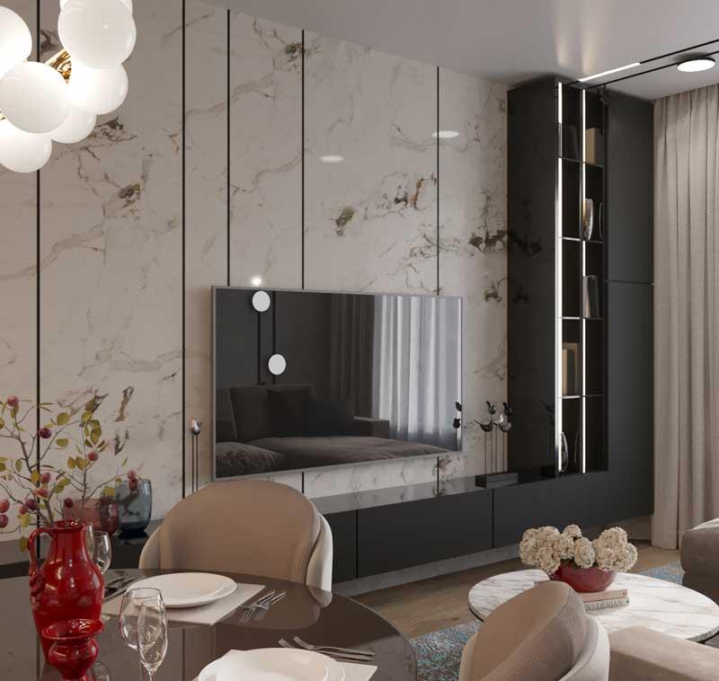 Столичные поляны. Проект 3 комнатной квартиры в ЖК Столичные поляны