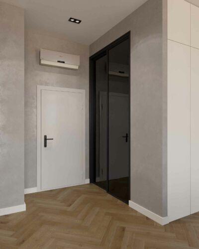 Гардероб. Удобное дополнение прихожей квартиры -студии.